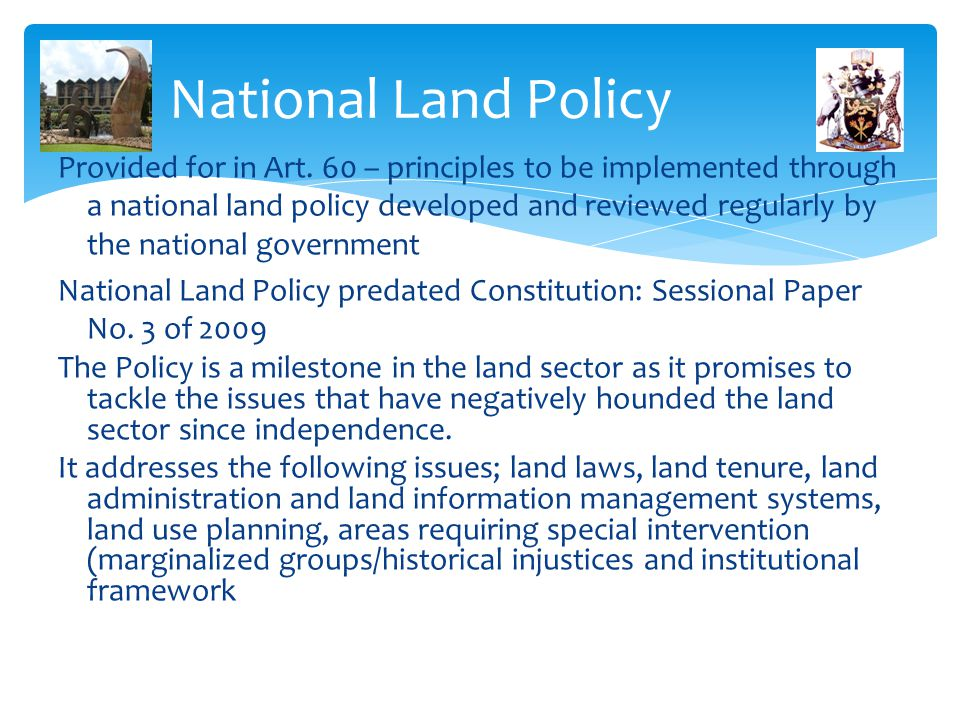 National Land Policy