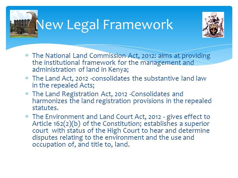 New Legal Framework