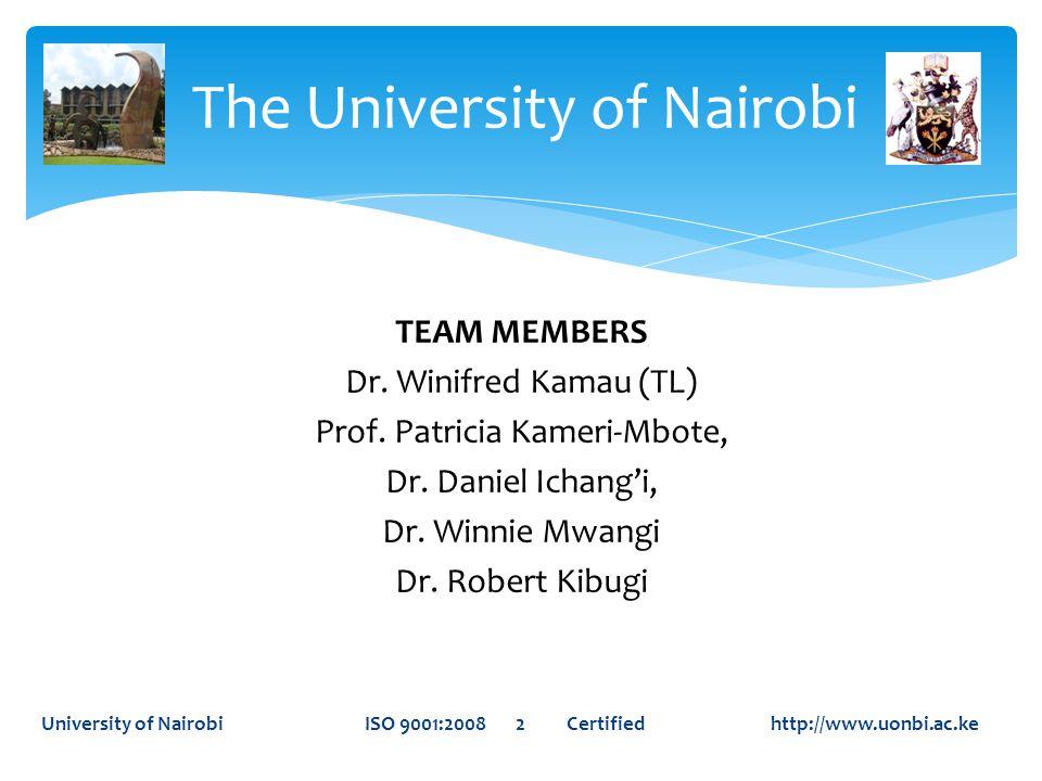 The University of Nairobi