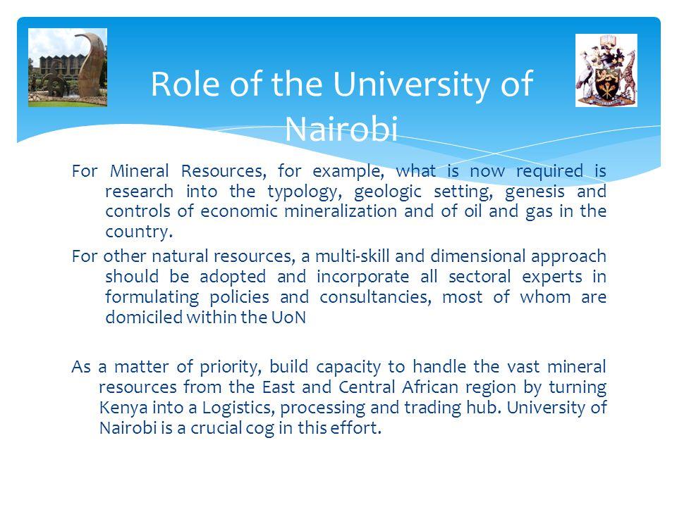 Role of the University of Nairobi
