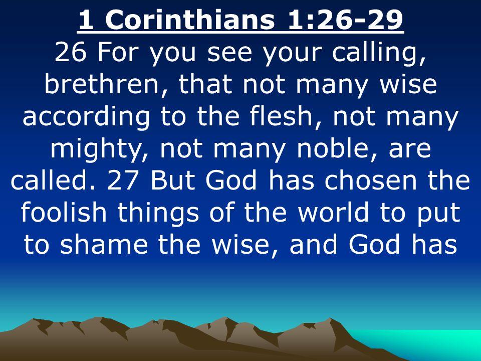 1 Corinthians 1:26-29