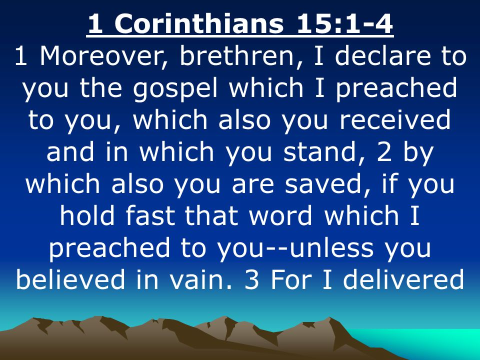 1 Corinthians 15:1-4