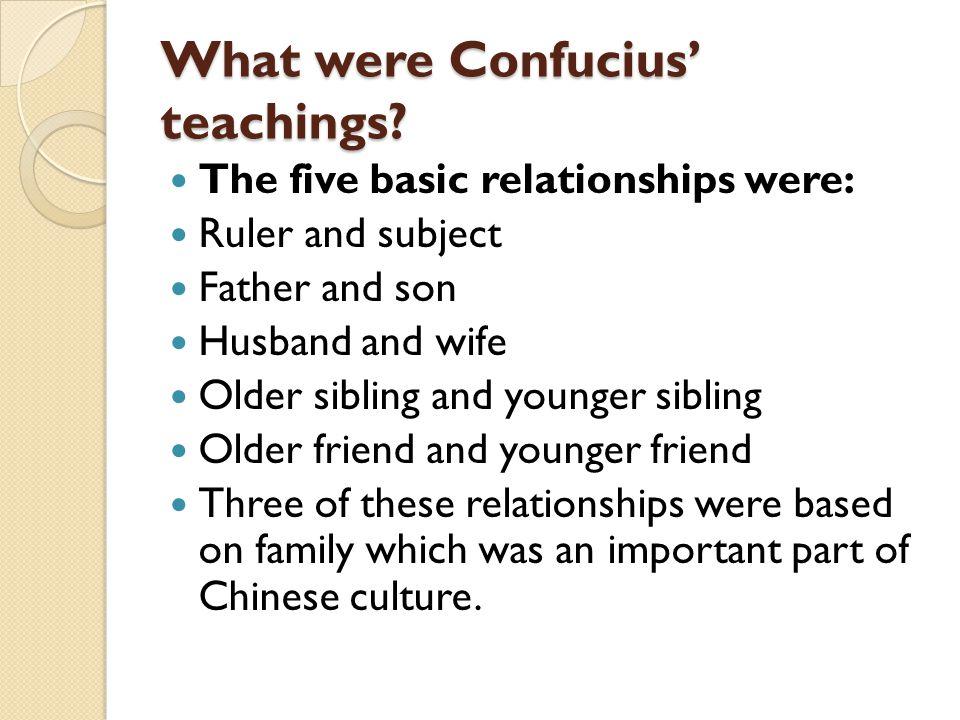 What were Confucius' teachings