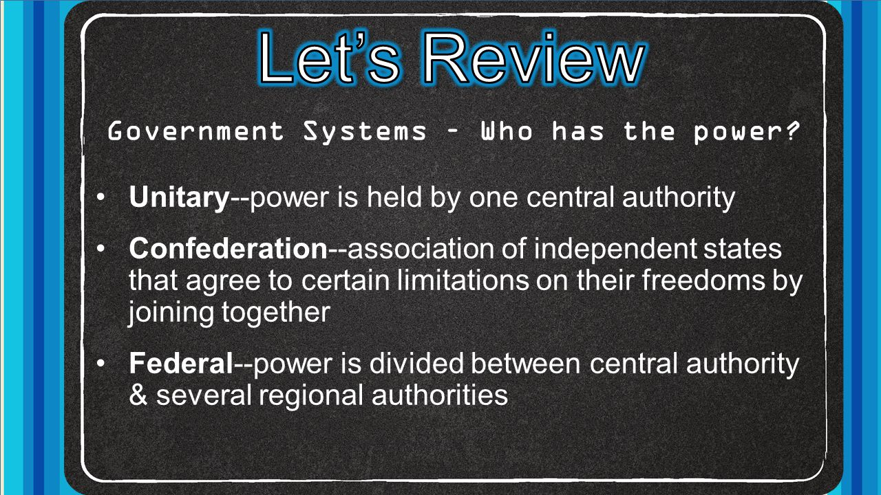 Government Systems – Who has the power
