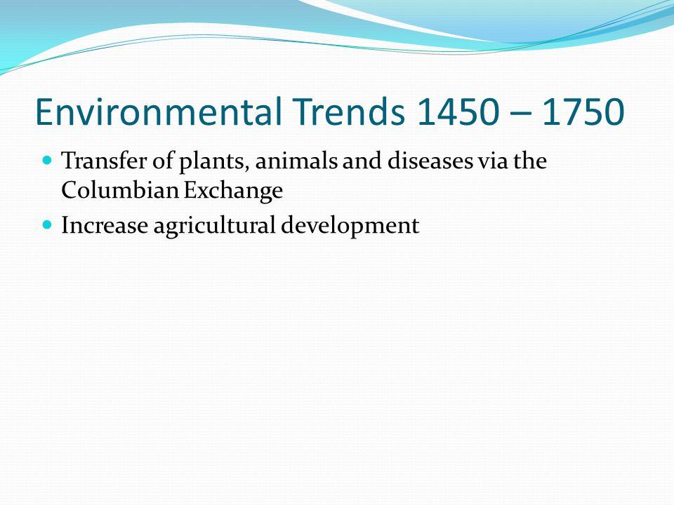 Environmental Trends 1450 – 1750