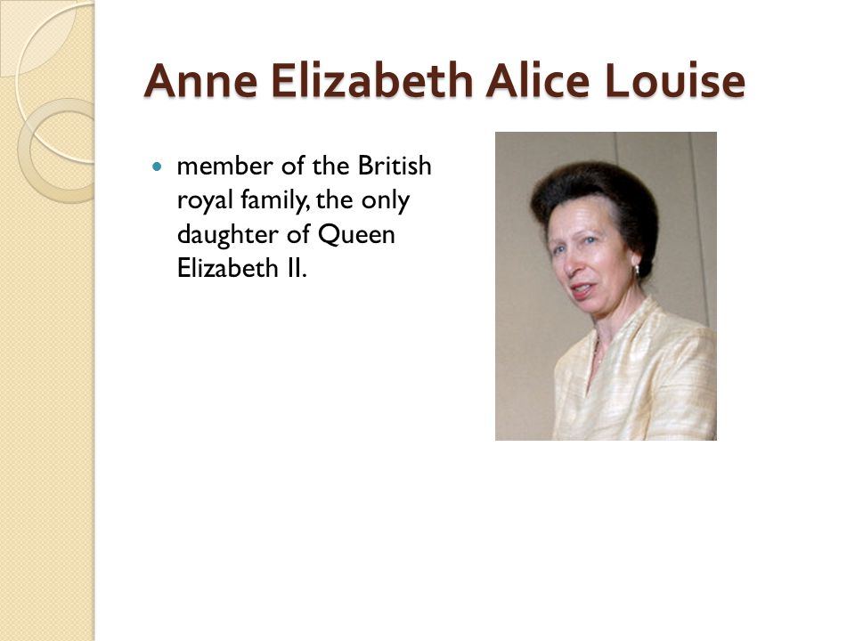 Anne Elizabeth Alice Louise