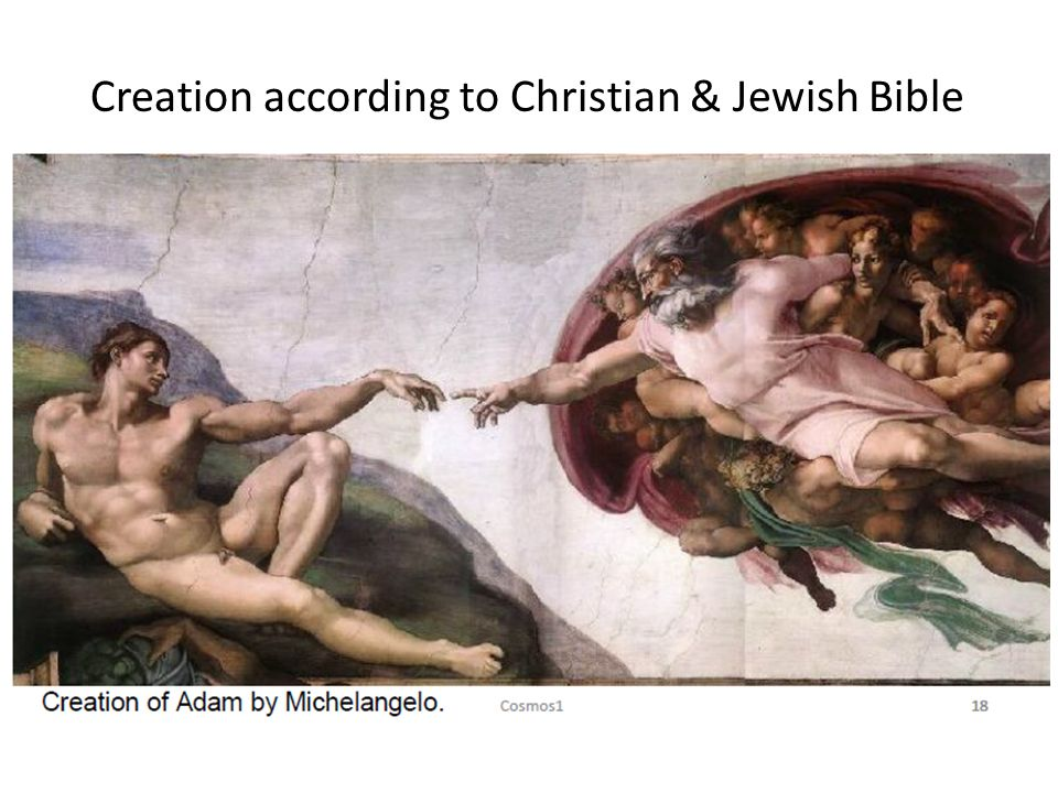 Creation according to Christian & Jewish Bible