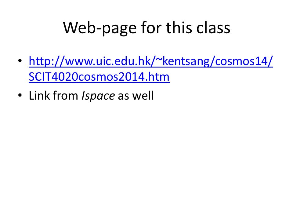 Web-page for this class