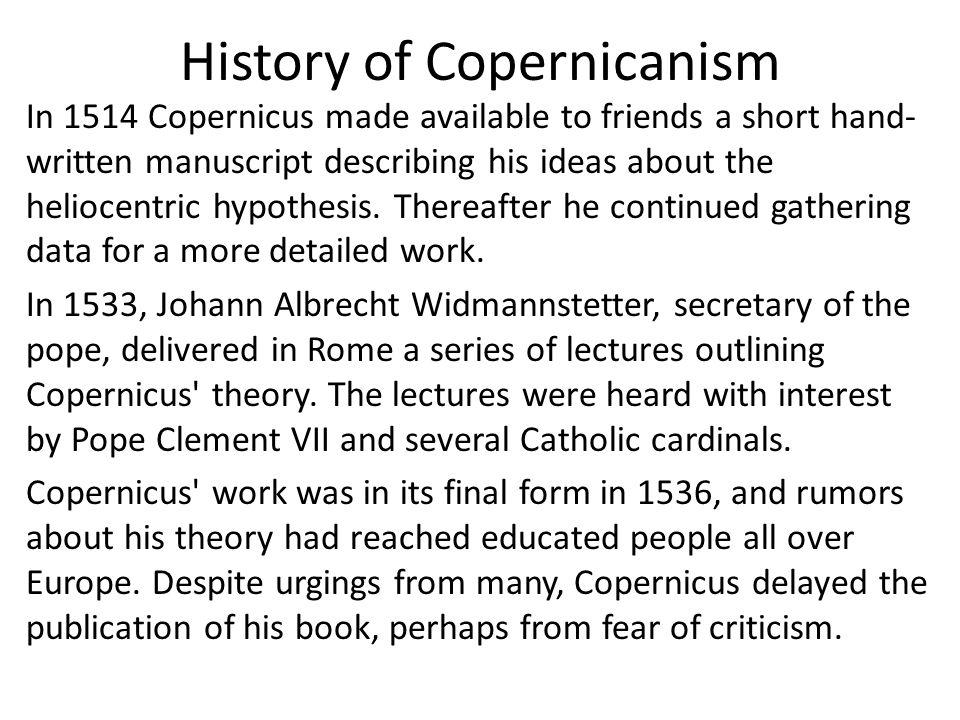 History of Copernicanism