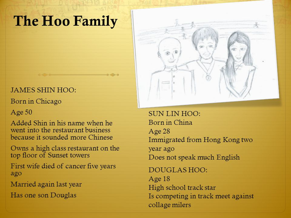 The Hoo Family JAMES SHIN HOO: Born in Chicago Age 50