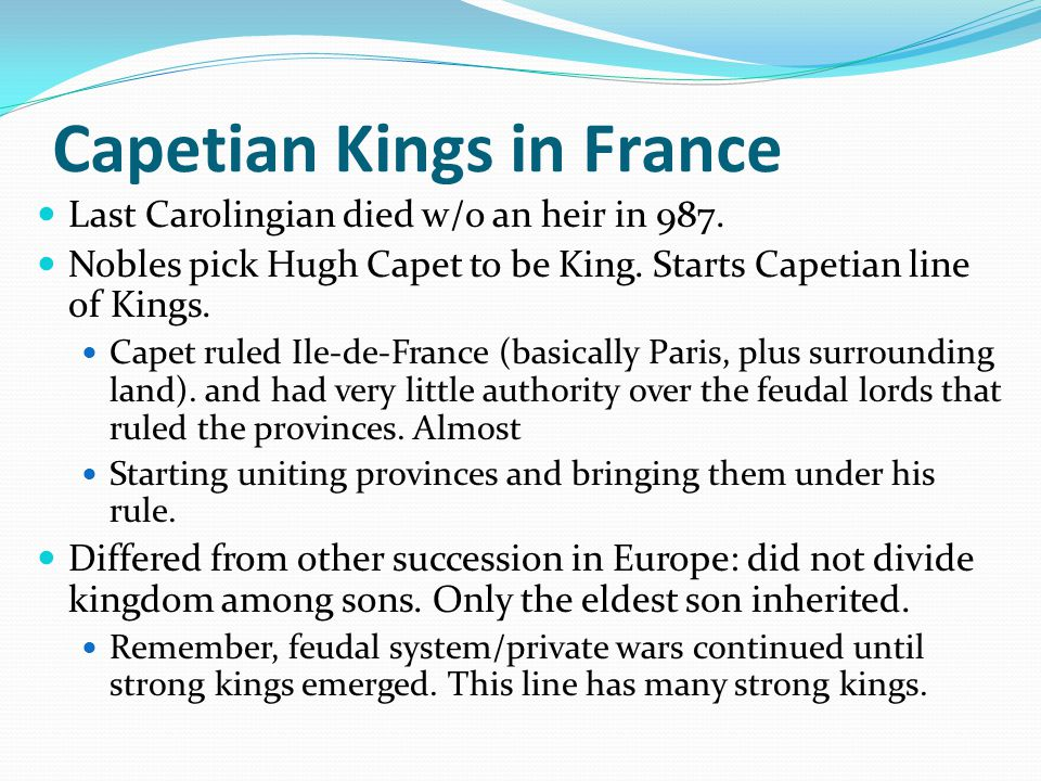 Capetian Kings in France