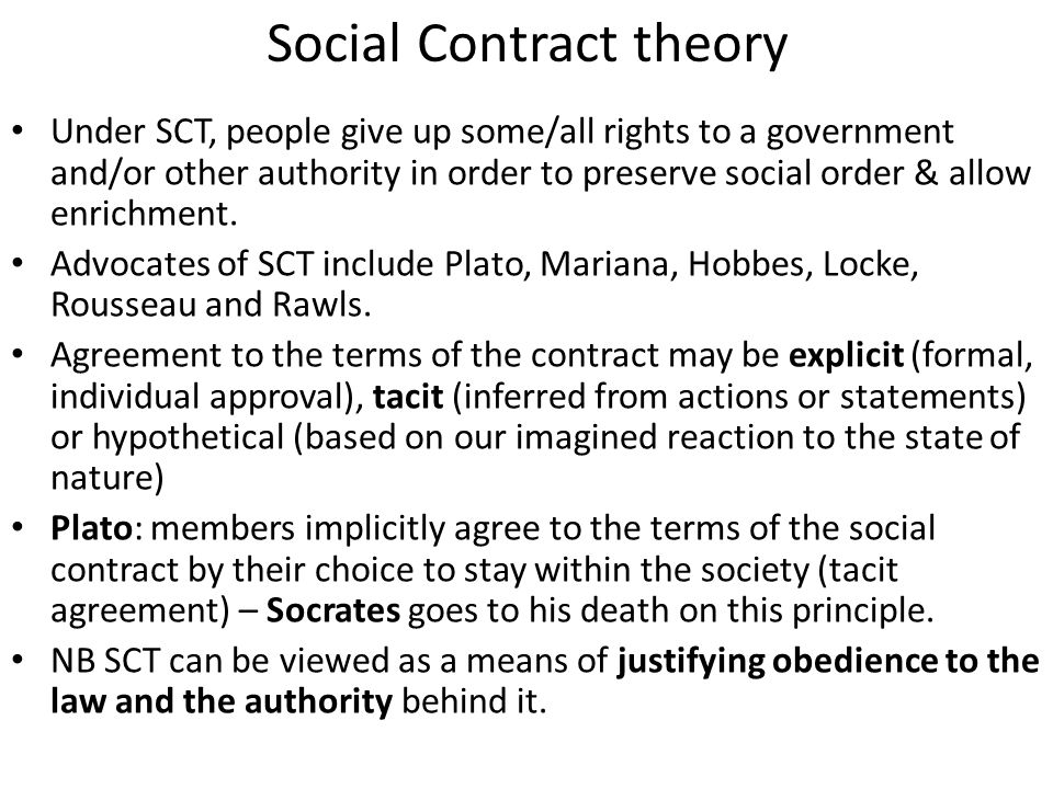 Social contract theroy