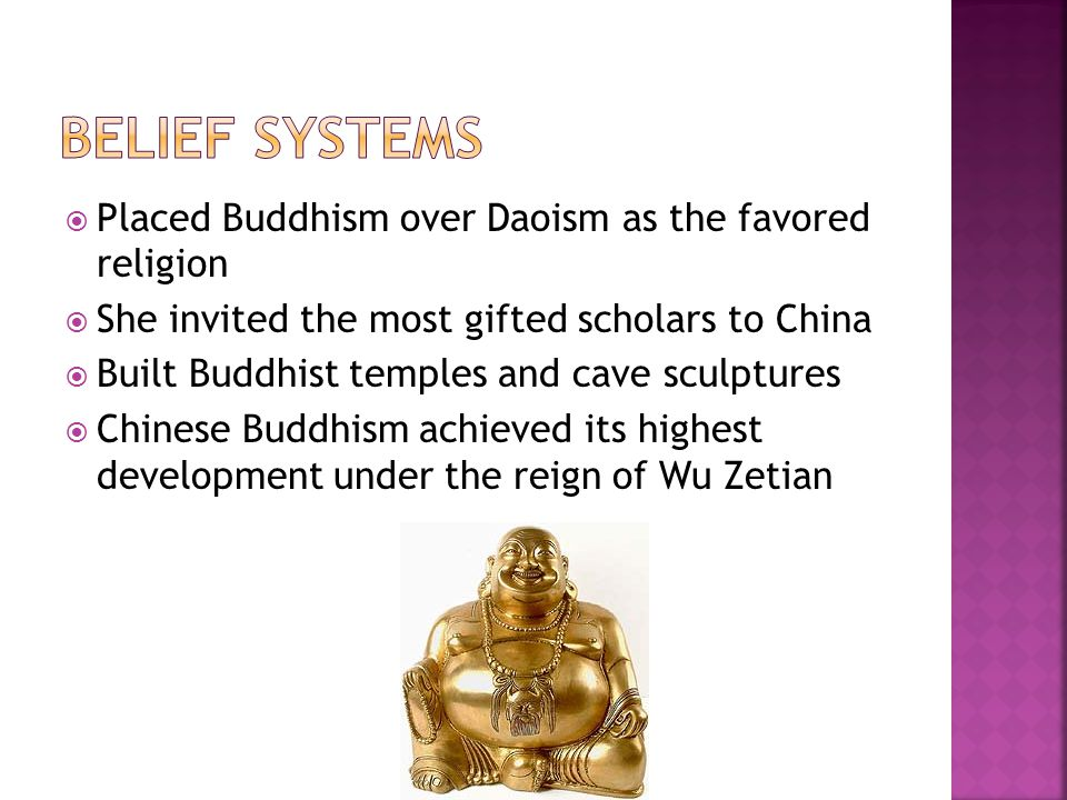 Belief Systems Placed Buddhism over Daoism as the favored religion