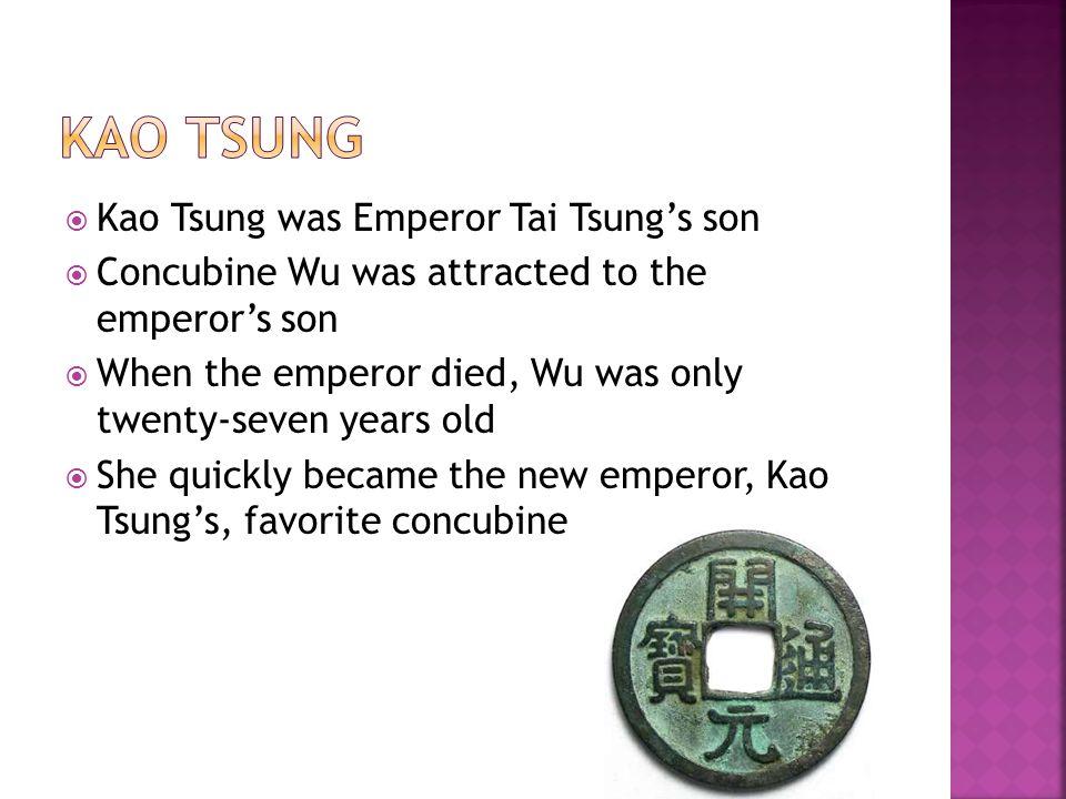 Kao TSUNG Kao Tsung was Emperor Tai Tsung's son