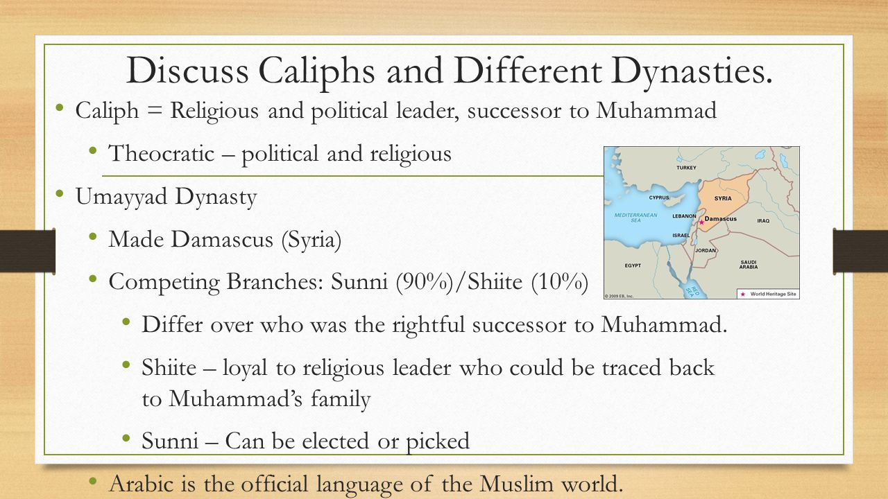 Discuss Caliphs and Different Dynasties.