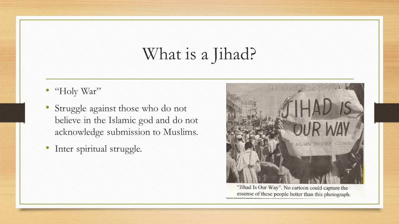 What is a Jihad Holy War