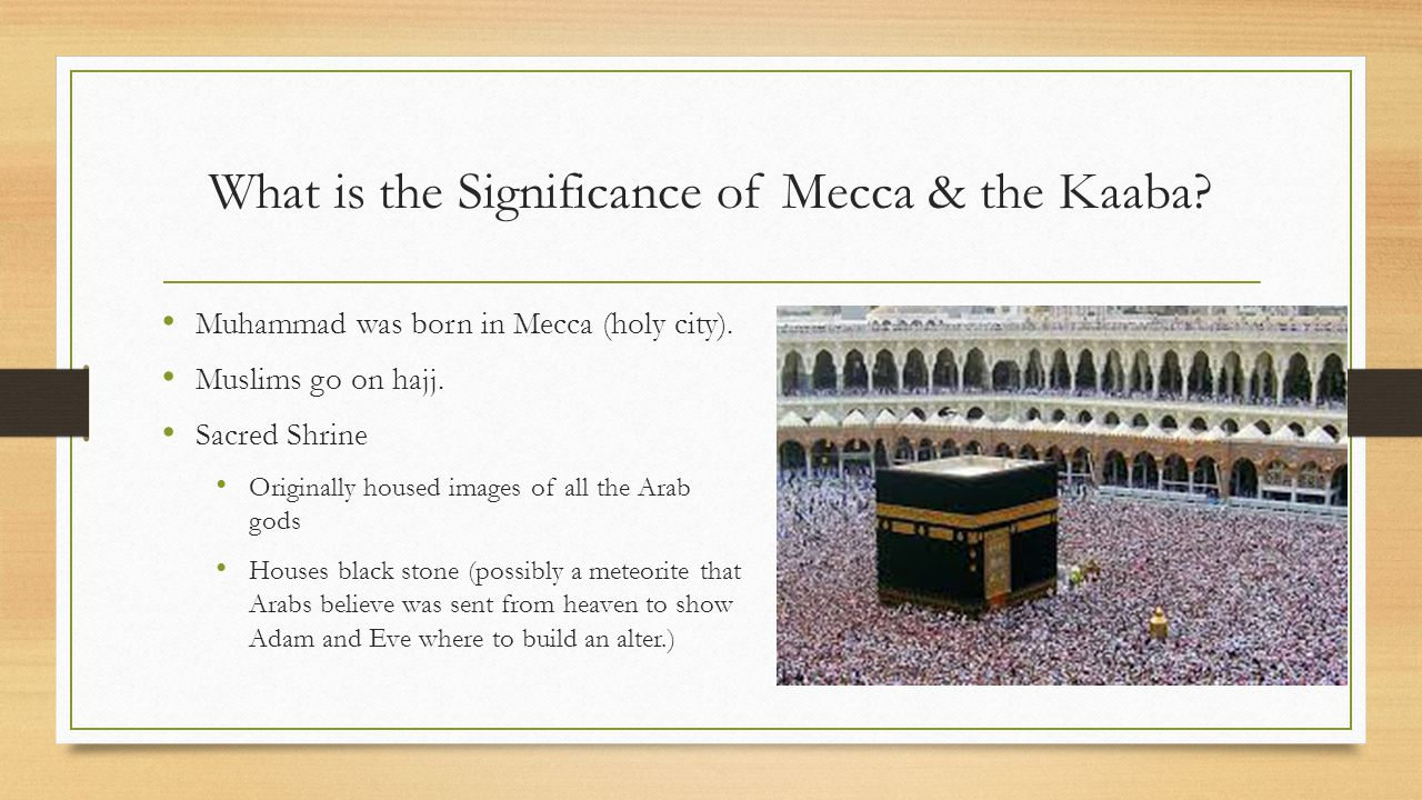 What is the Significance of Mecca & the Kaaba