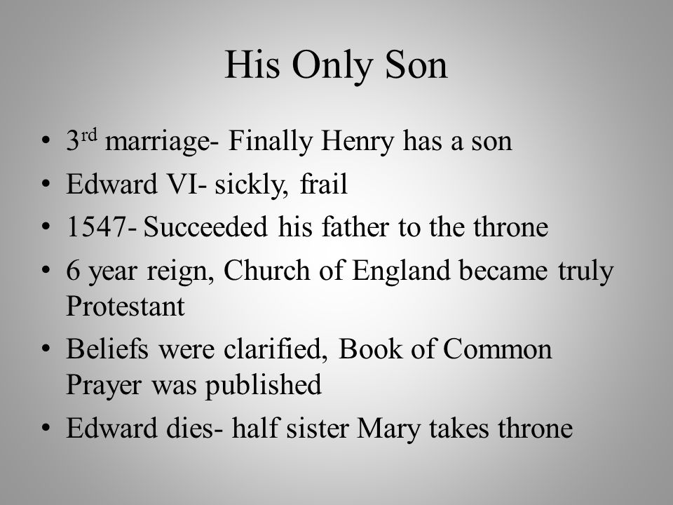 His Only Son 3rd marriage- Finally Henry has a son