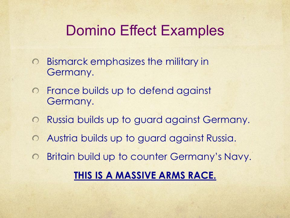 Domino Effect Examples