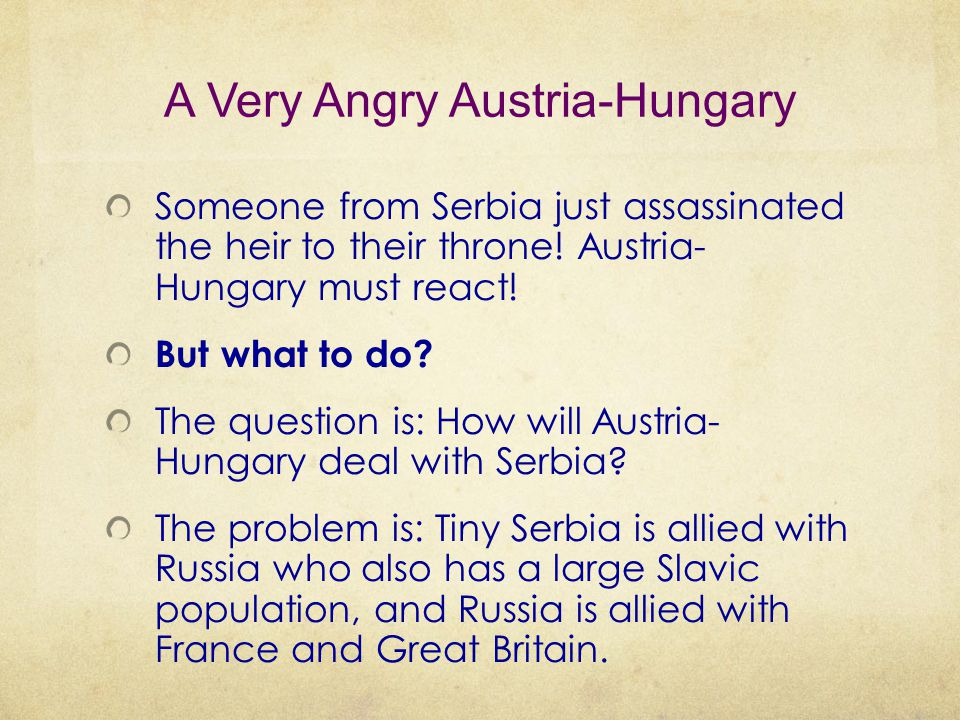 A Very Angry Austria-Hungary