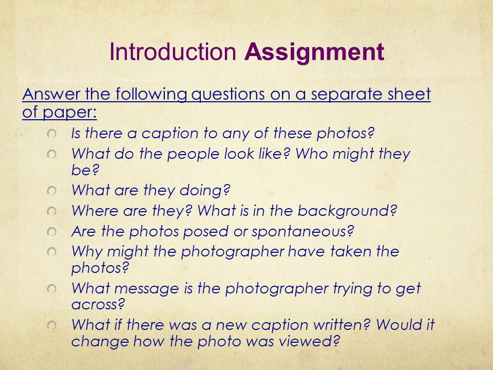 Introduction Assignment