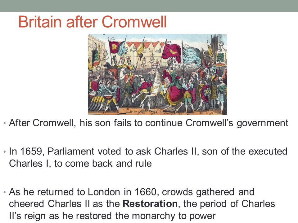 Britain after Cromwell