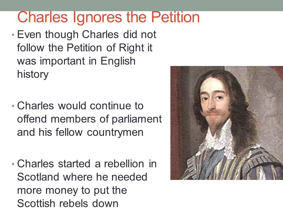 Charles Ignores the Petition