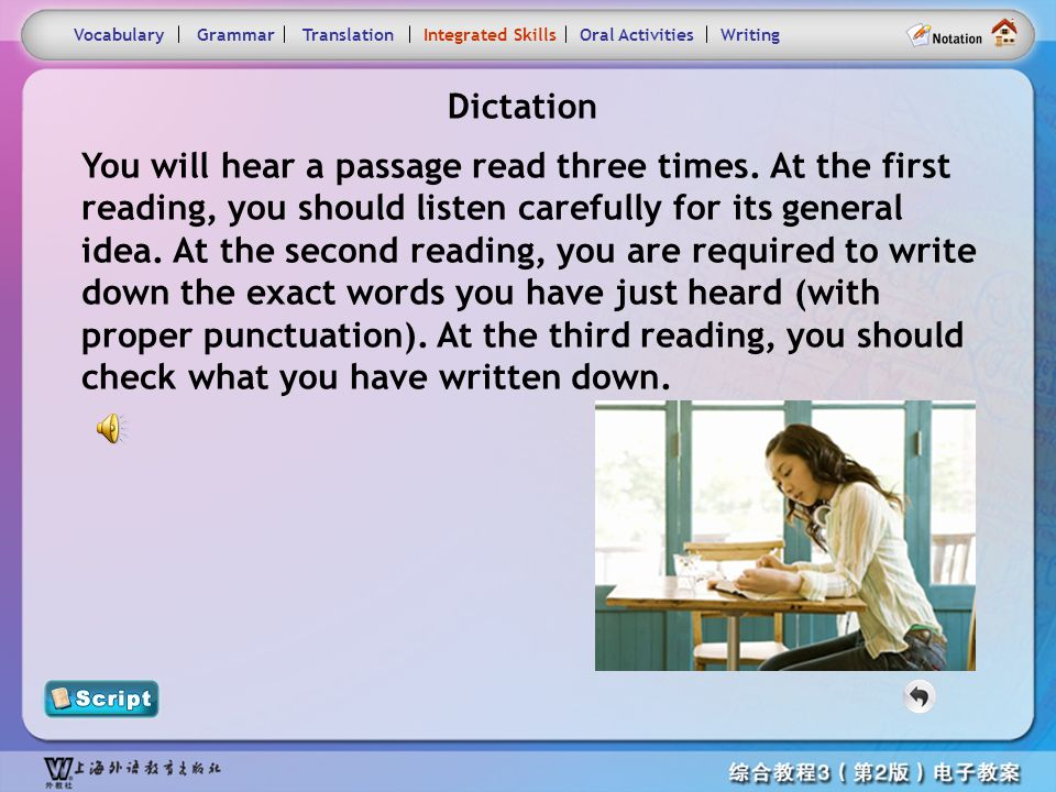 Consolidation Activities- Dictation