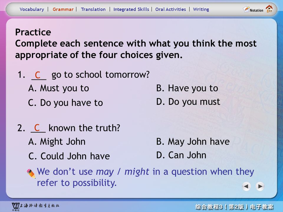 Consolidation Activities- Grammar1.2