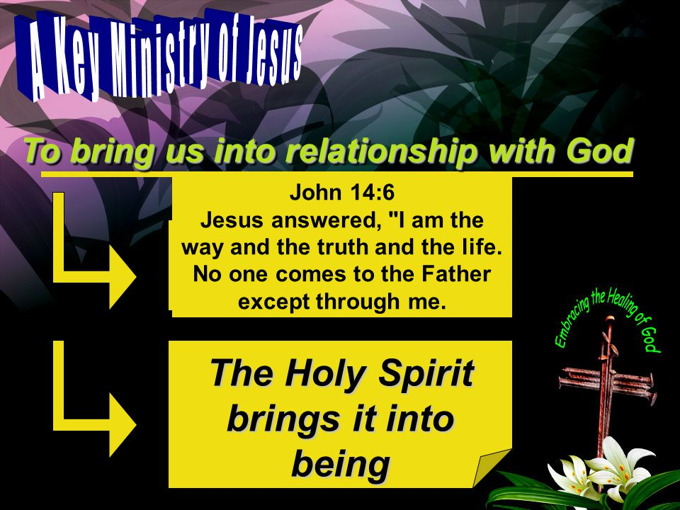 God as Father The Holy Spirit brings it into being