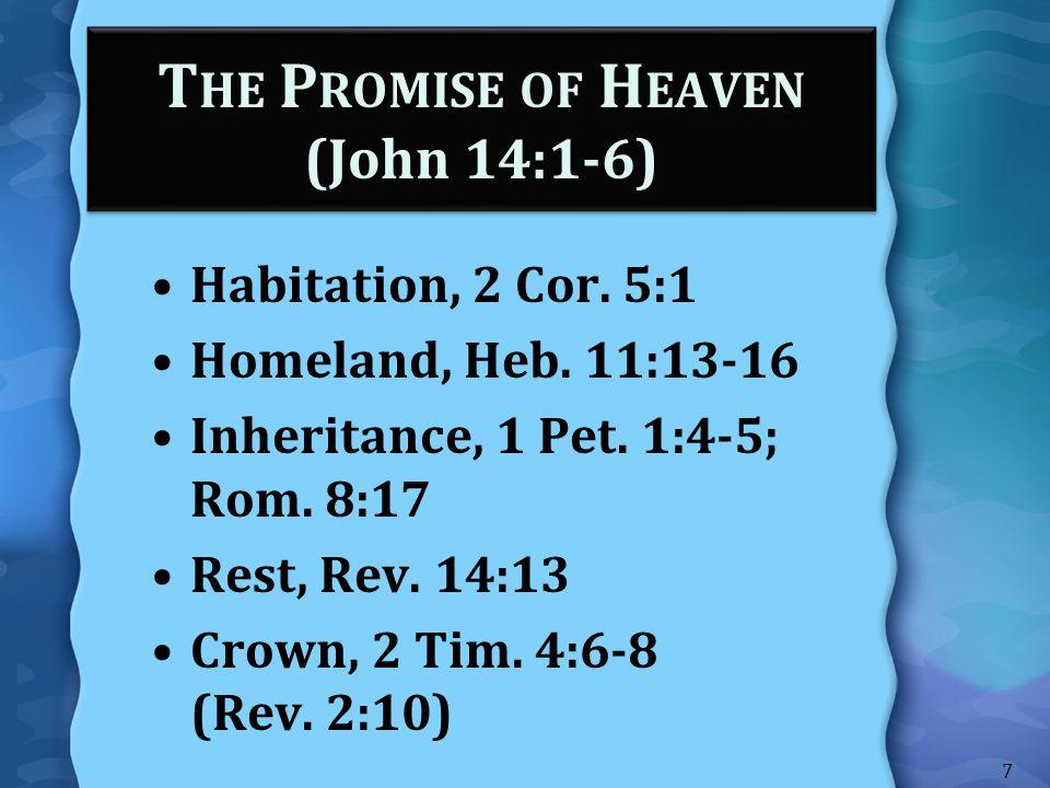 The Promise of Heaven (John 14:1-6)