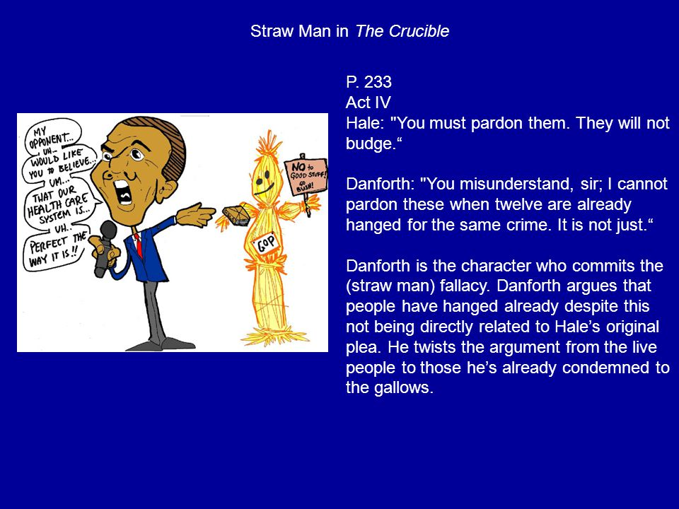 Straw Man in The Crucible