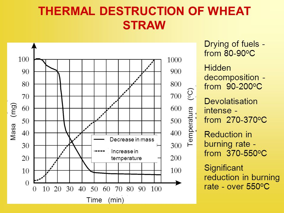 THERMAL DESTRUCTION OF WHEAT STRAW