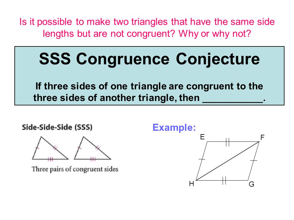 SSS Congruence Conjecture