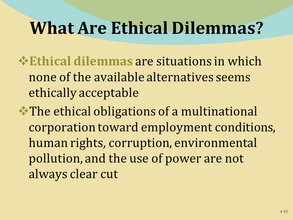 What Are Ethical Dilemmas