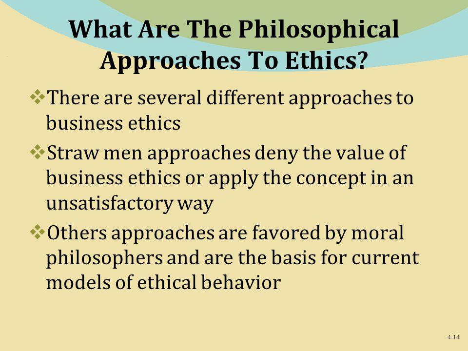 What Are The Philosophical Approaches To Ethics