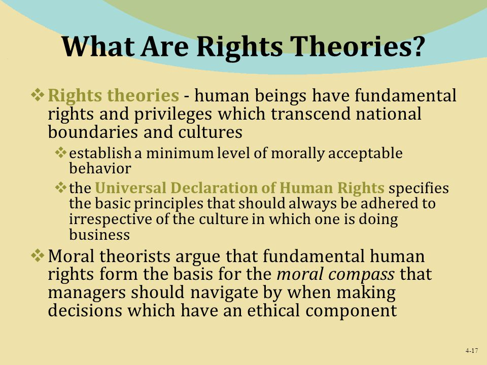 What Are Rights Theories