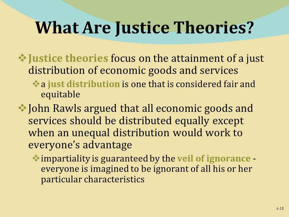 What Are Justice Theories