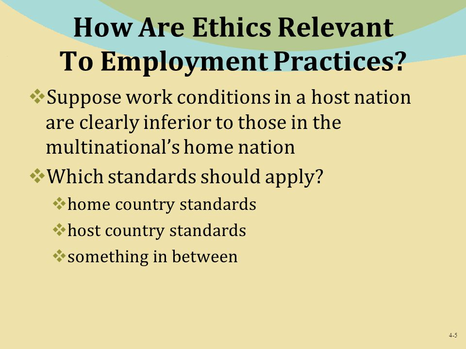 How Are Ethics Relevant To Employment Practices