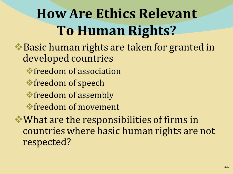 How Are Ethics Relevant To Human Rights