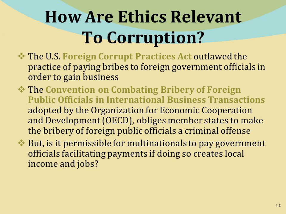 How Are Ethics Relevant To Corruption
