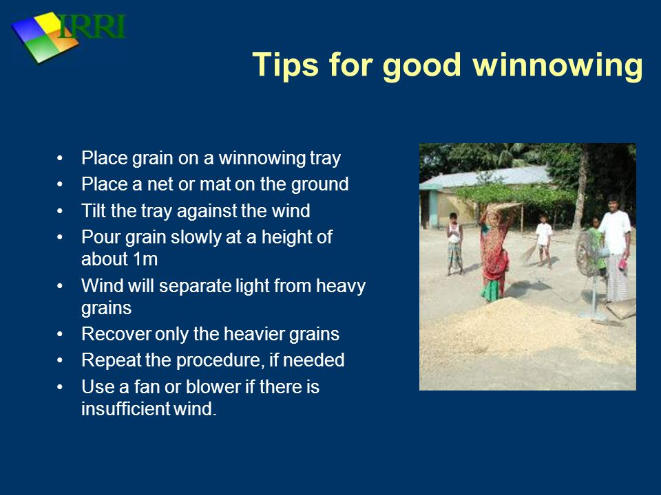 Tips for good winnowing