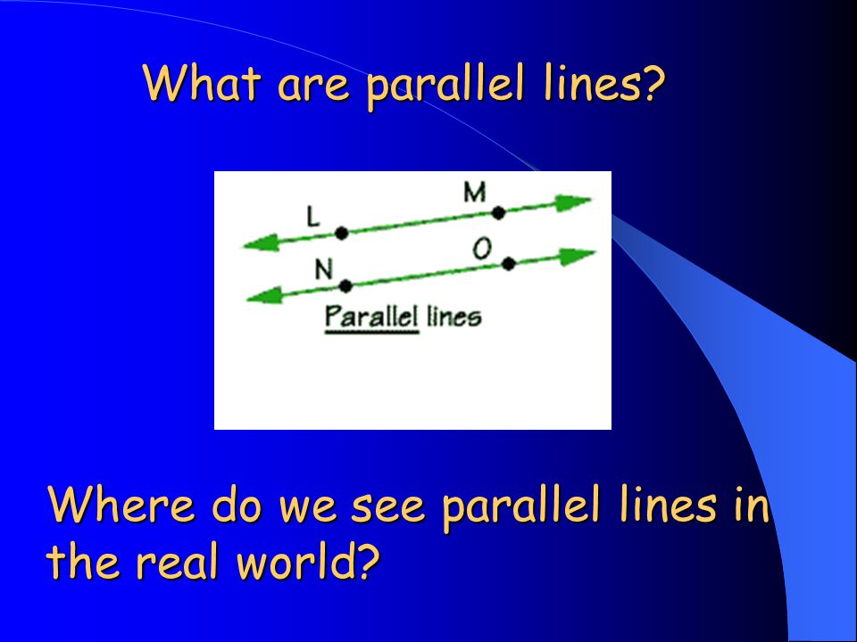What are parallel lines