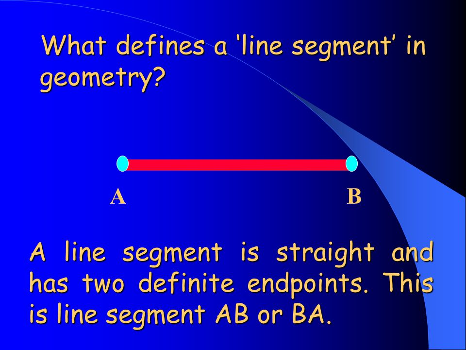 What defines a 'line segment' in geometry