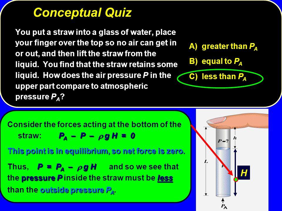 Conceptual Quiz