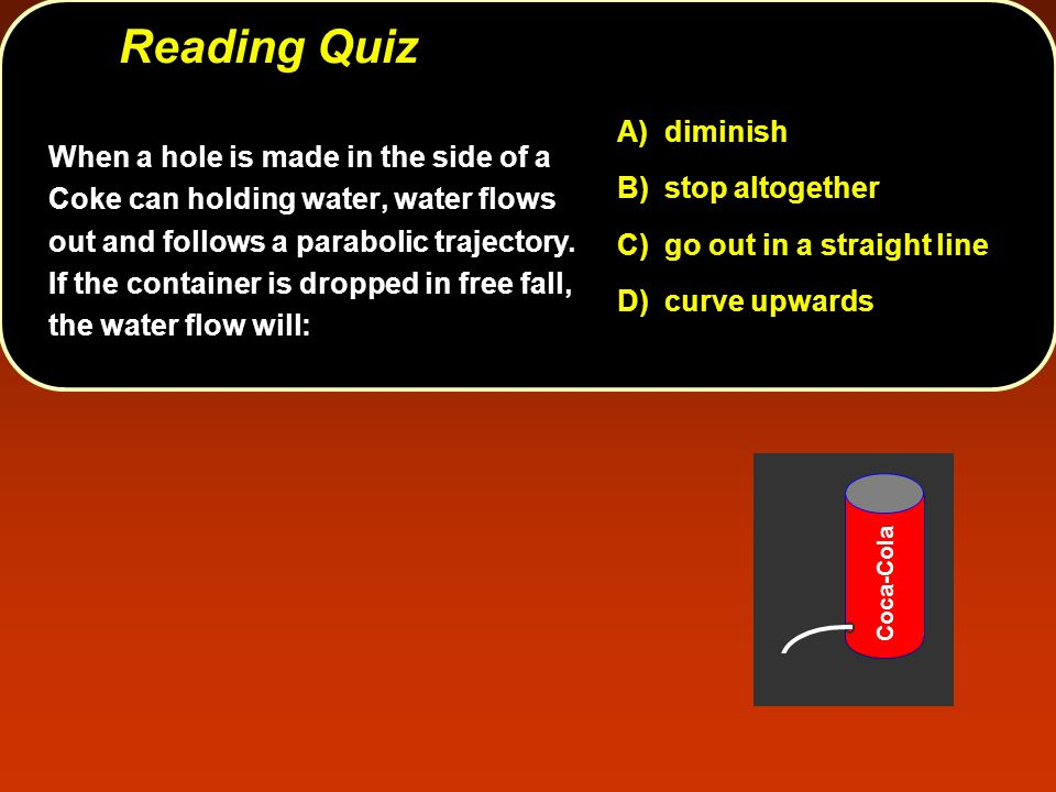Reading Quiz A) diminish B) stop altogether