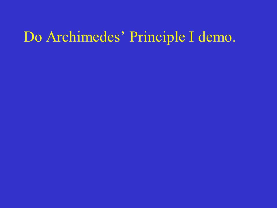 Do Archimedes' Principle I demo.
