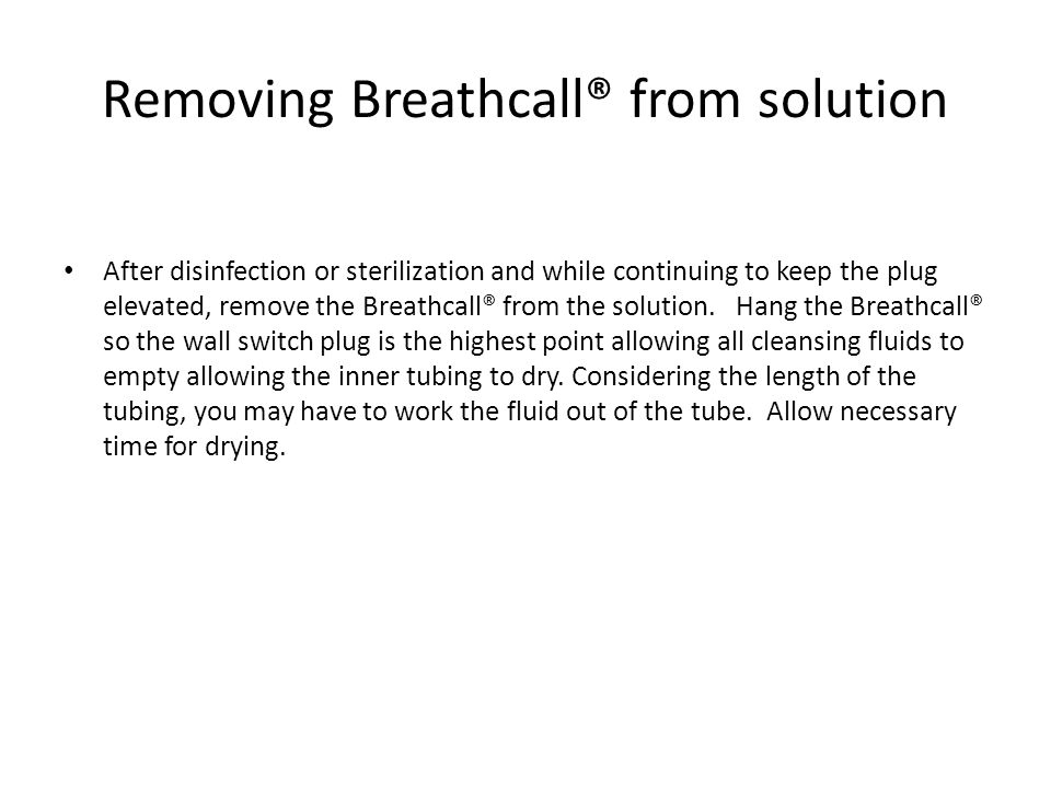 Removing Breathcall® from solution