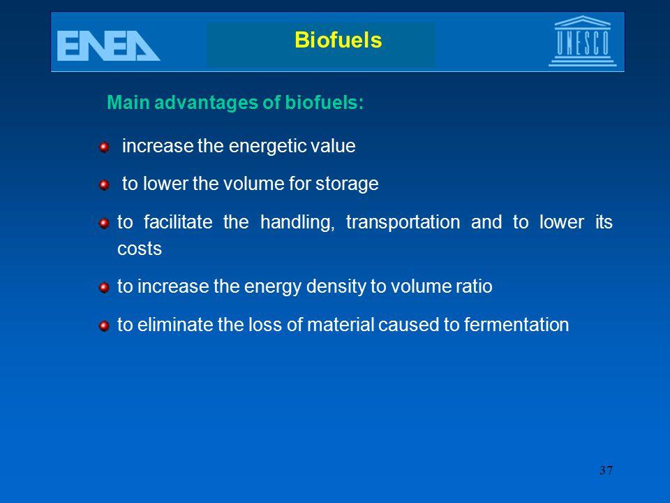 Main advantages of biofuels: