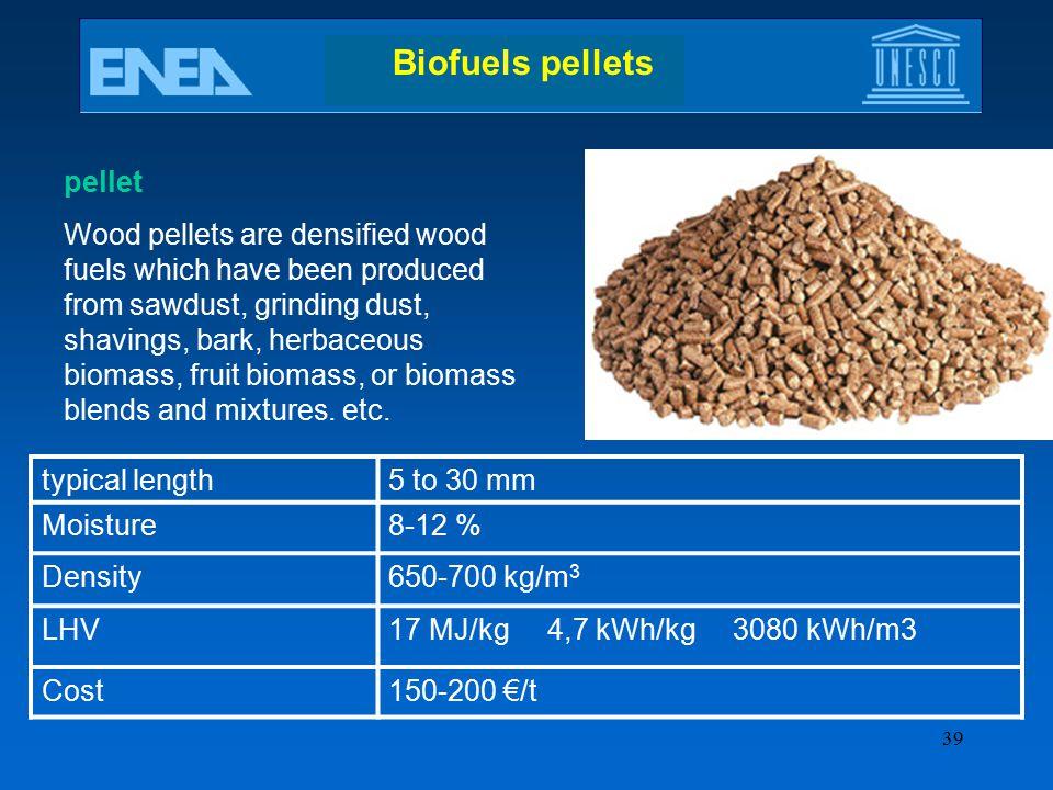 Biofuels pellets pellet